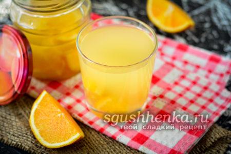 компот из апельсинов на зиму как Фанта
