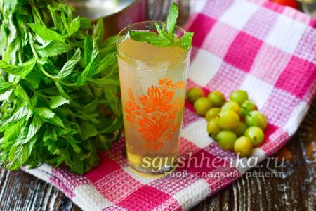 лимонад из крыжовника и мяты