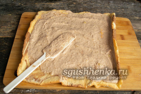 бисквит смазать кремом