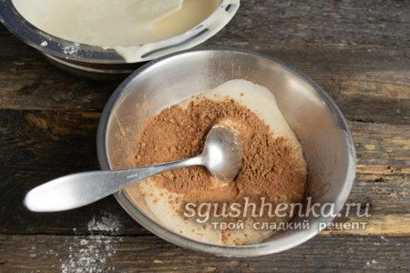 добавить порошок какао