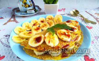 овсяноблин с бананом для правильного питания