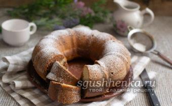 шоколадно-ванильный мраморный пирог