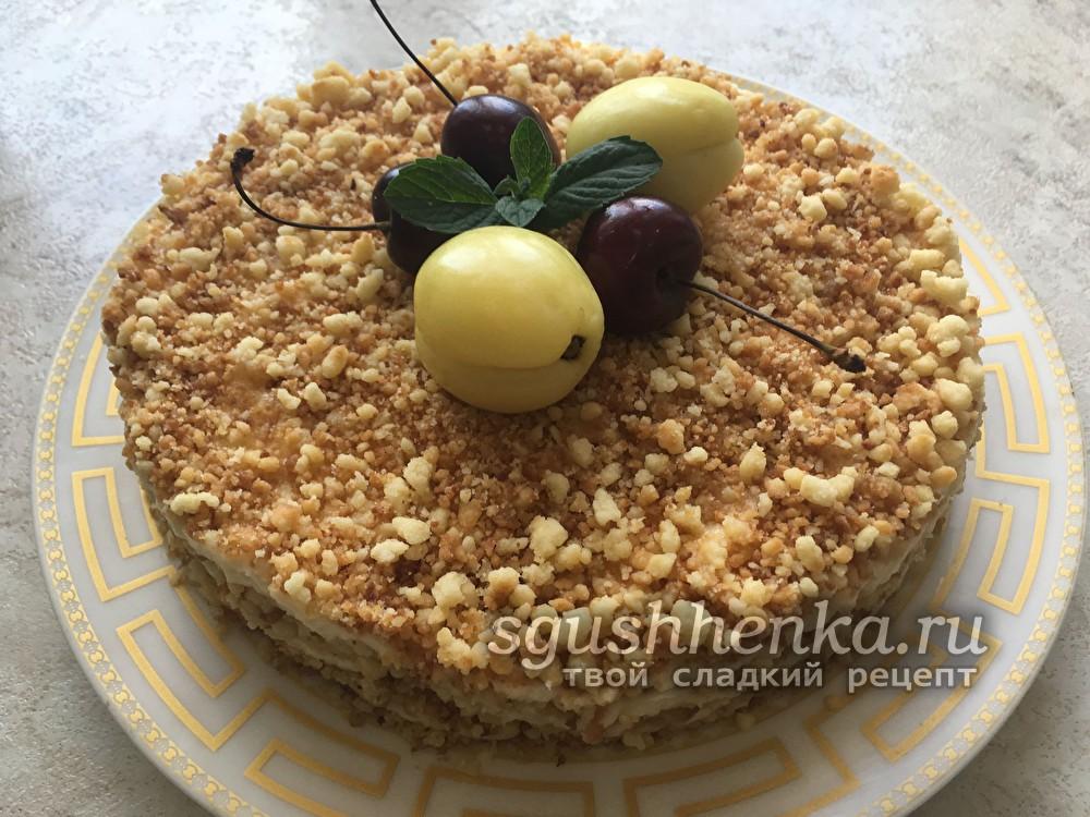 торт из песочной крошки