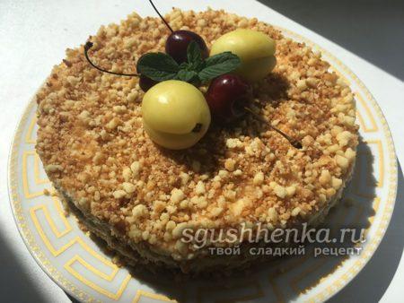 замечательный торт из песочной крошки