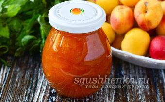 ароматное варенье из абрикосов с мятой