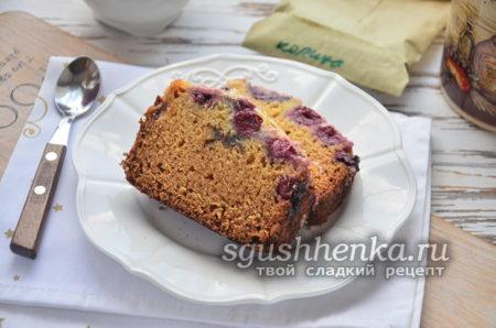 вишневый пирог в сметанной заливке