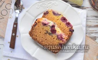 быстрый вишневый пирог в сметанной заливке