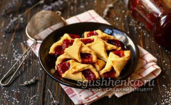 простое и вкусное печенье Минутка с повидлом