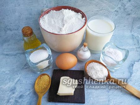 ингредиенты для пышек-таратушек