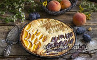 трехцветный пирог с творогом