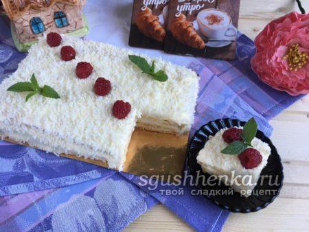 Заварной торт с кремом