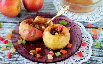 Запеченные яблоки в микроволновке, как запекать, рецепты