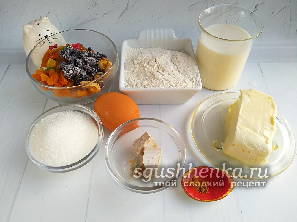 продукты для кулича из слоеного теста