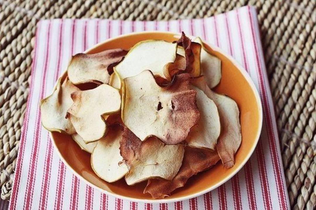 быстрый рецепт чипсов из яблок