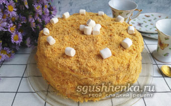 торт Светлана без выпечки на сковороде