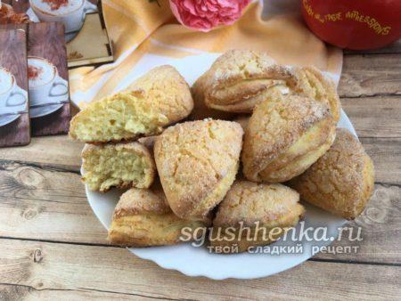простое творожное печенье без масла