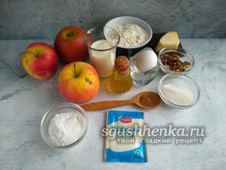 ингредиенты для яблочных трубочек