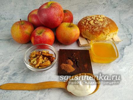 ингредиенты для запеченных яблок