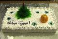 Украшение тортов на Новый год 2020 своими руками из крема в домашних условиях