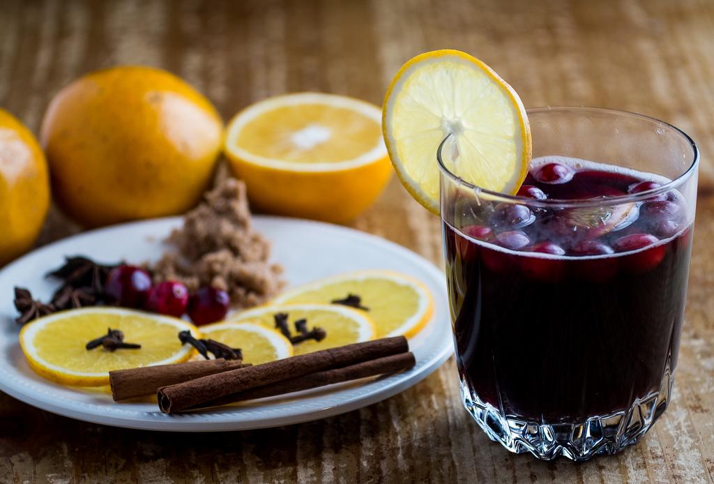 рецепт вишневого глинтвейна