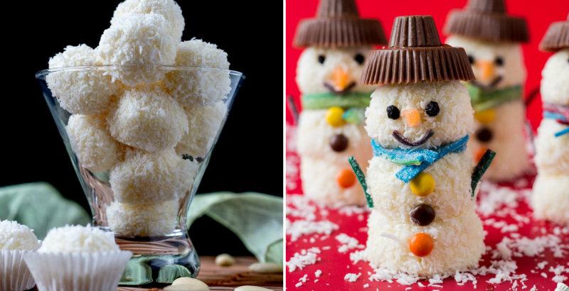 вариант сладких снеговиков