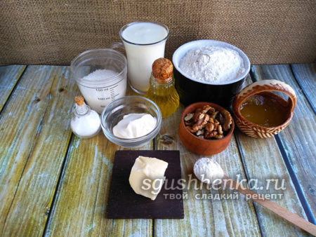 ингредиенты для пахлавы