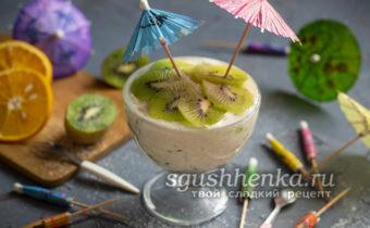 десерт с желатином и фруктами без выпечки