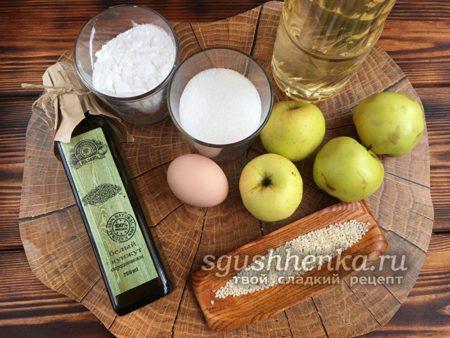 ингредиенты для фруктового десерта