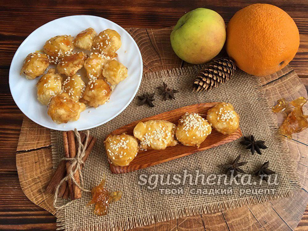 яблоки в карамели по-китайски в домашних условиях
