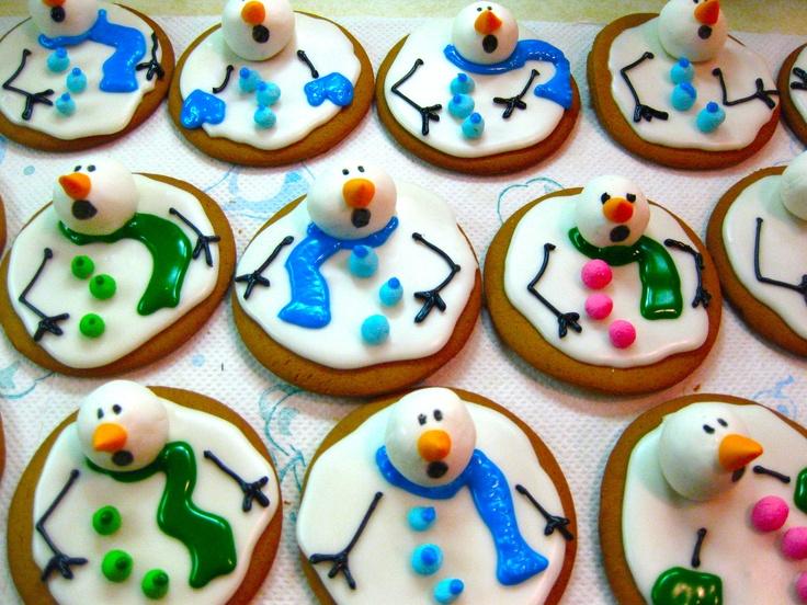 печенья в форме снеговиков