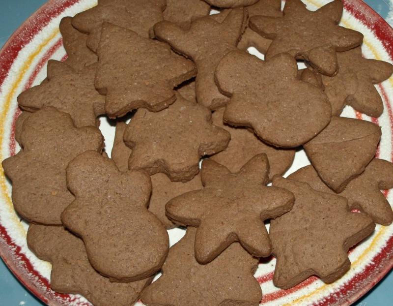 шоколадные печенья на новый год