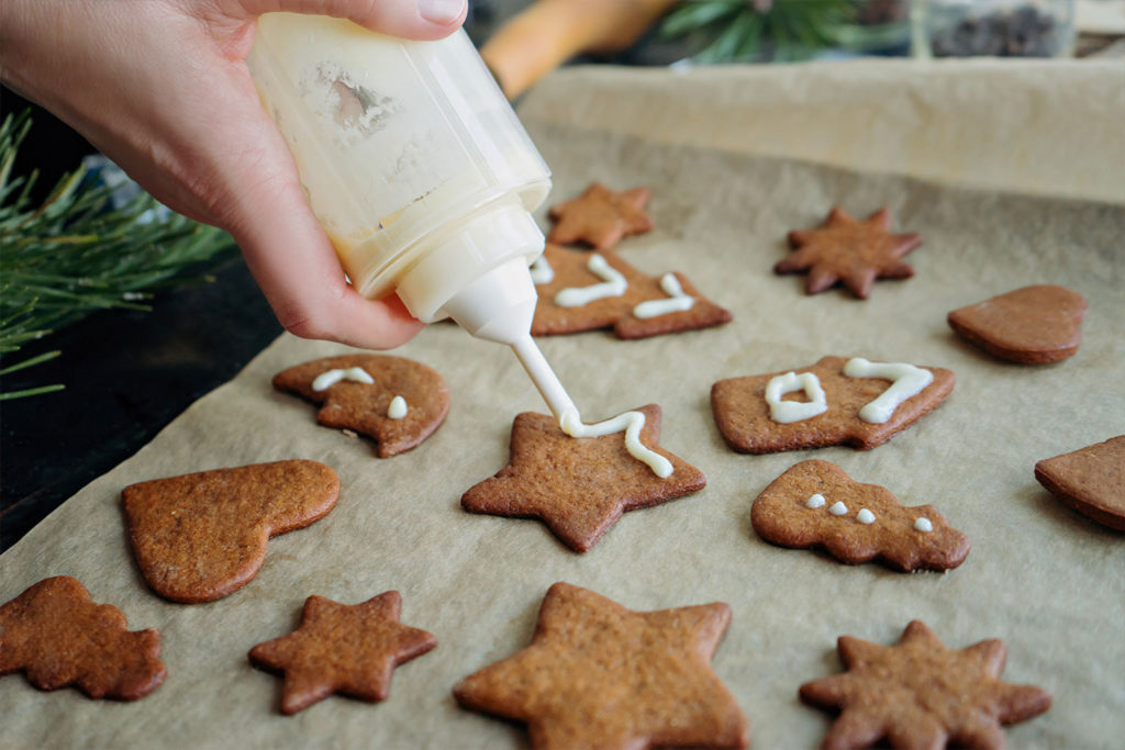 как сделать рисунки на печенье