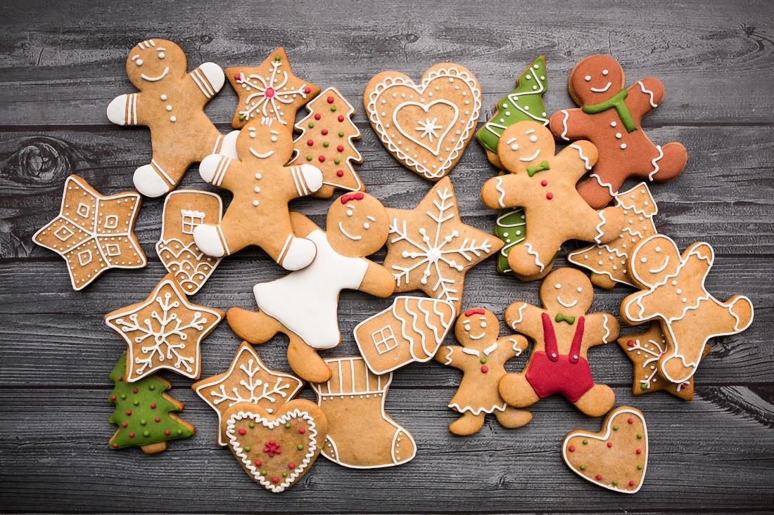украшенные имбирные печенья