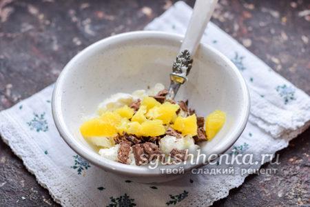 добавить апельсин в мороженое