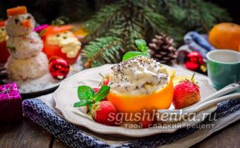 оригинальный десерт Новогодняя сказка