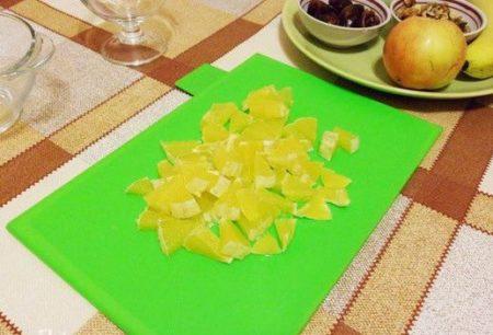 порезать апельсин