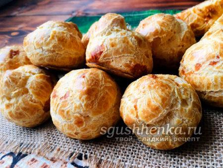 французские заварные сырные булочки