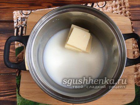 добавить куски сливочного масла