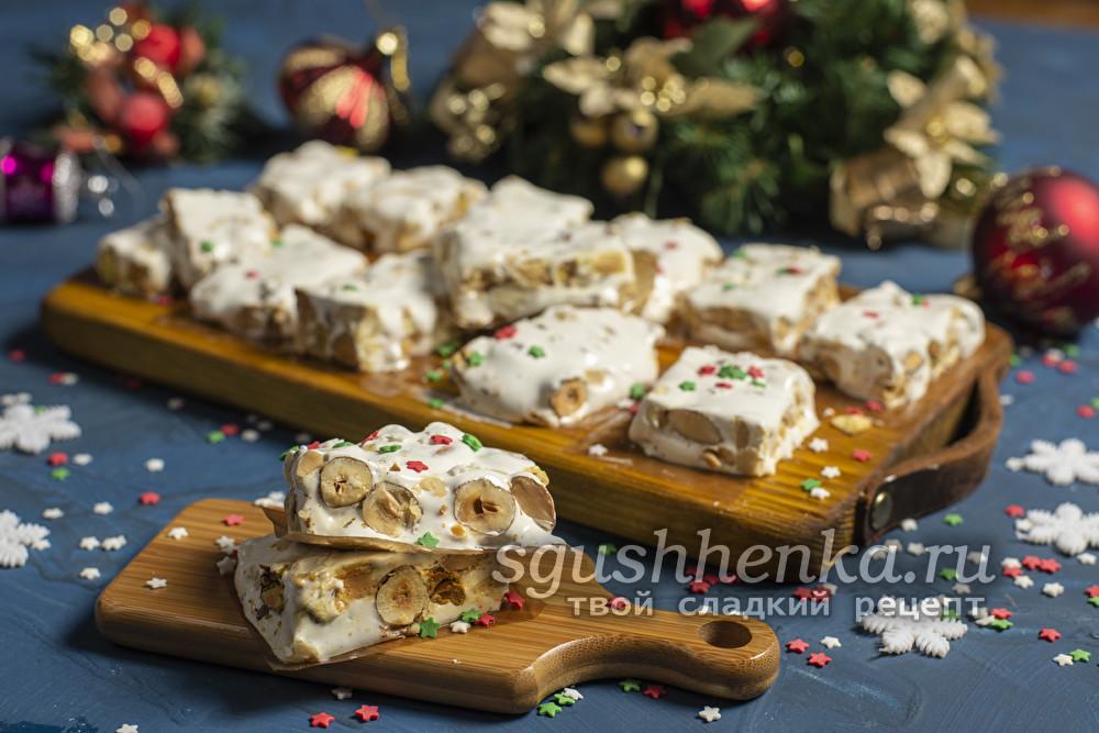 ореховая испанская сладость туррон