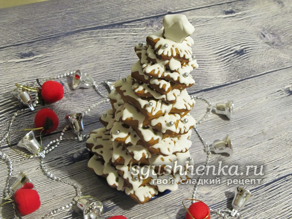 Новогодний десерт Елочки в глазури