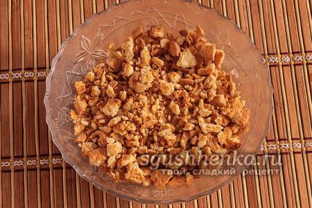 печенье размять в мелкую крошку