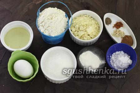 ингредиенты для печенья Мышата