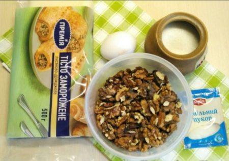 тесто орехи
