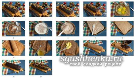 МК бисквита Рождественское полено