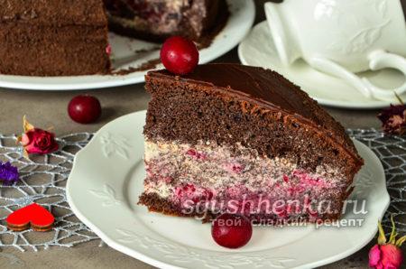 классический торт «Пьяная вишня»