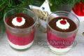 шоколадный десерт с клюквой