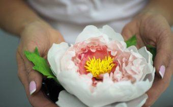 вафельные цветы для торта