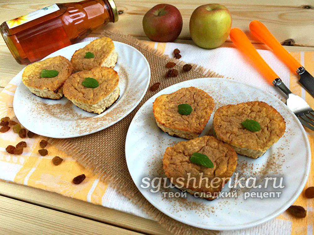 Диетическое творожное суфле с яблоками в духовке