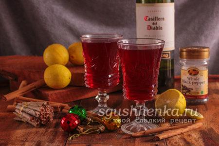 глинтвейн с лимоном к Рождеству