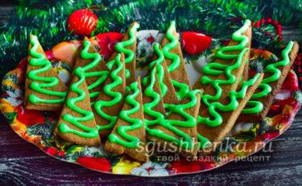 простое имбирное печенье на Рождество